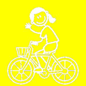 Mädel auf Fahrrad